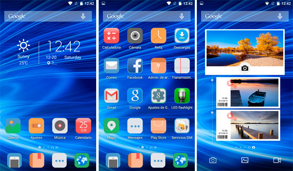 Launcher Android 5.1 del Blackview Alife P1 Pro