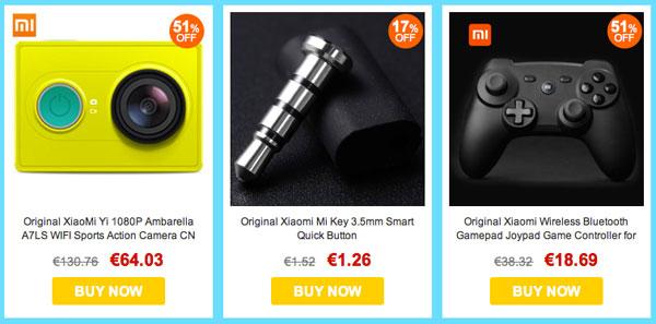 Gadgets y electrónica Xiaomi en oferta