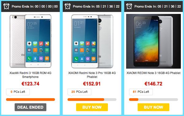 Promoción Xiaomi 60% descuento