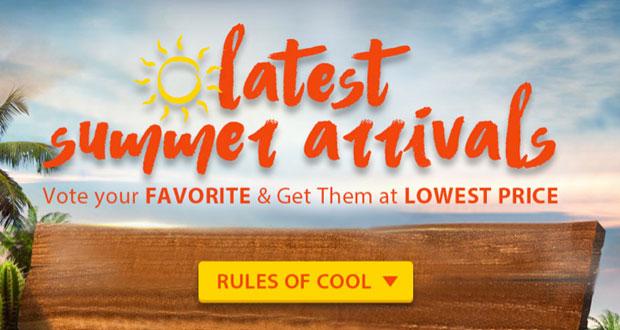Latest Summer arrivales en Gearbest