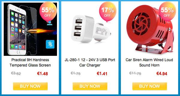 Productos baratos desde 1 dólar en Gearbest