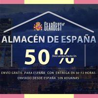 Gearbest España almacén local sin aduanas