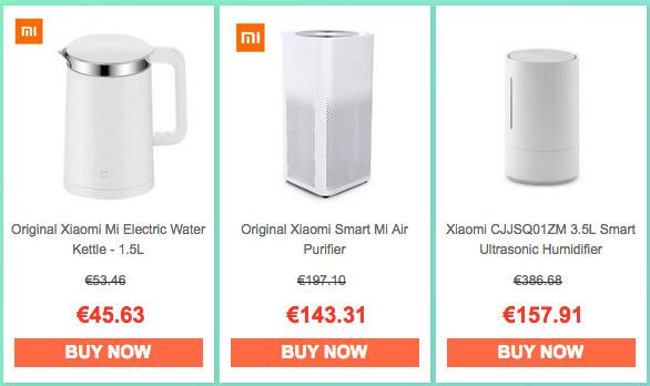 Productos para el hogar y decoración Xiaomi descuentos