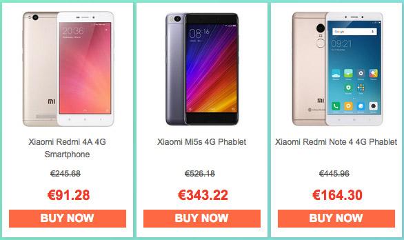 Smartphones Xiaomi Promoción 2017