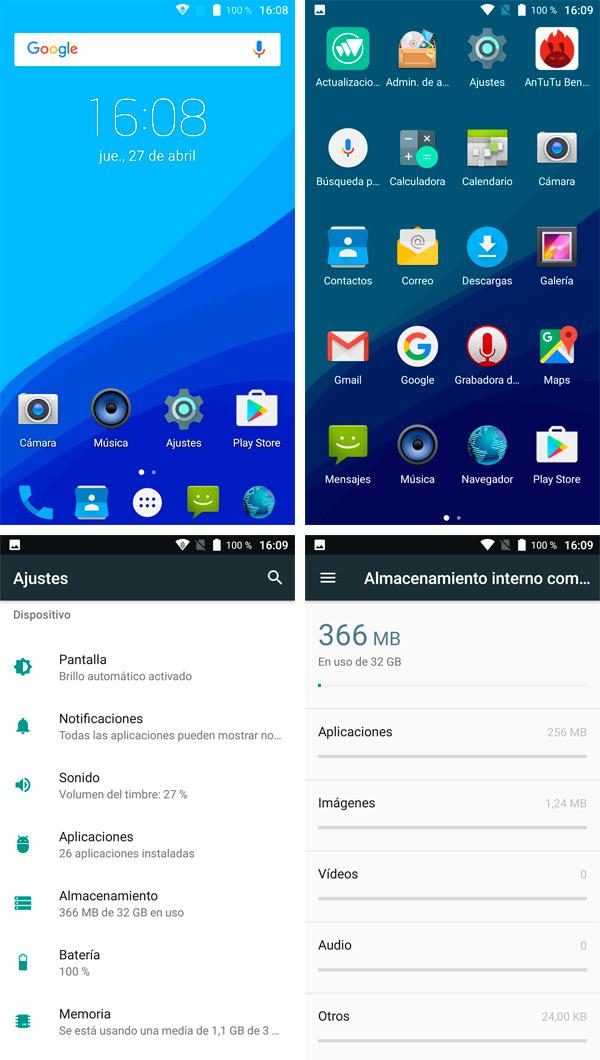 UMIDIGI C Note Android 7 Nougat puro