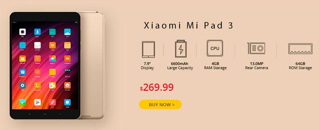 Promoción Mayo 2017 Xiaomi Mi Pad 3