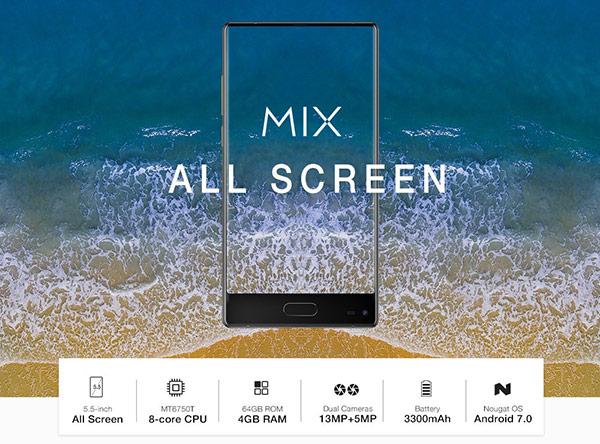 Ulefone Mix con pantalla Super amolde sin marcos