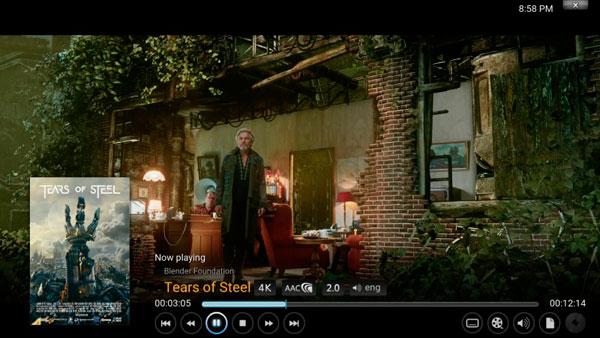 Kodi para Android captura de pantalla