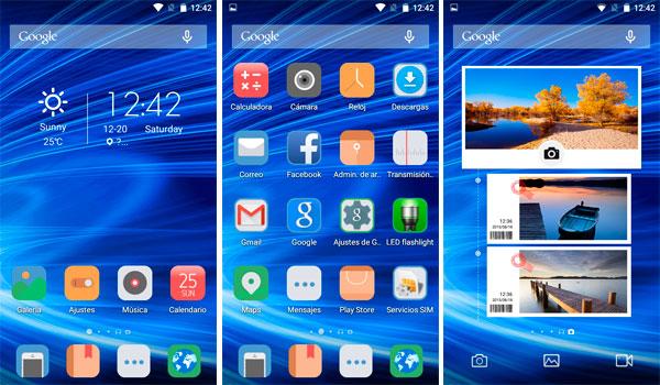 Launcher Android 5.1 del Blackview Alife P1 Pro