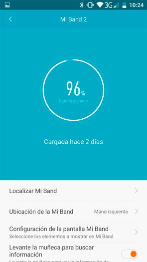 Xiaomi Mi Band 2 duración batería 20 días