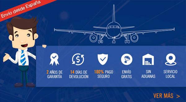 Gearbest España sin aduanas 2 años de garantía