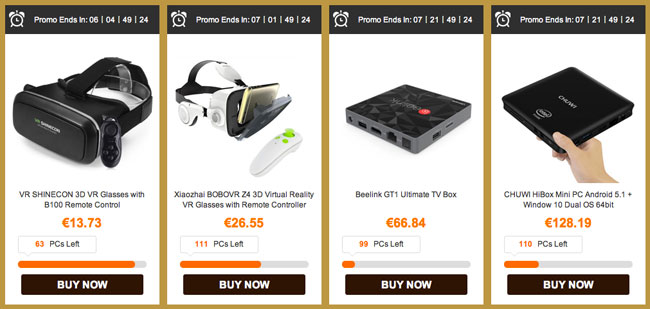 Gafas VR y Android TV Academy Awards Gearbest