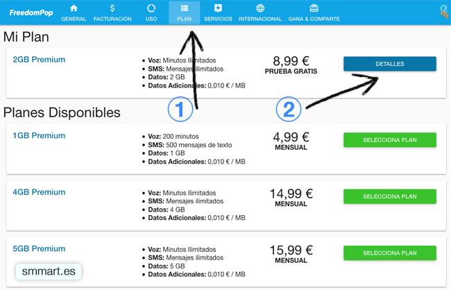 Plan 2 GB Premium FreedomPop