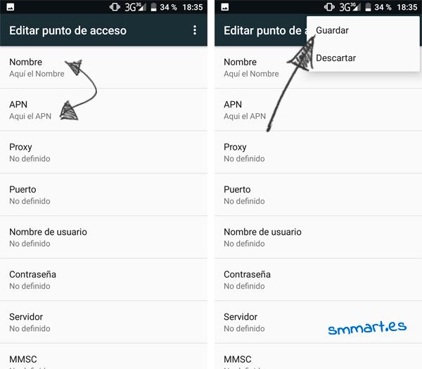 Cómo configurar APN en un teléfono Android