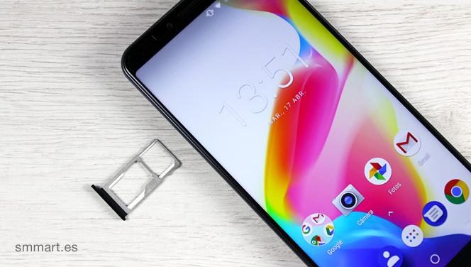 Cubot X18 Plus bandejas Dual SIM y microSD