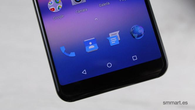 UMIDIGI A1 Pro botones dentro de la pantalla