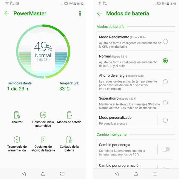 Zenfone 5 PowerMaster para la batería