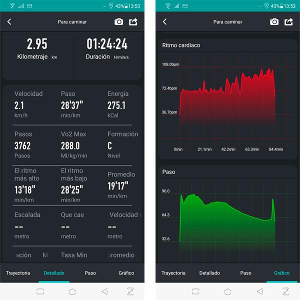 Reloj inteligente Kospet Brave estadísticas deportivas y de salud
