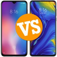 Comparativa del Xiaomi Mi 9 vs Xiaomi Mi Mix 3