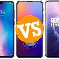 Comparativa Xiaomi Mi 9 vs Asus ZenFone 6 vs OnePlus 7 Pro