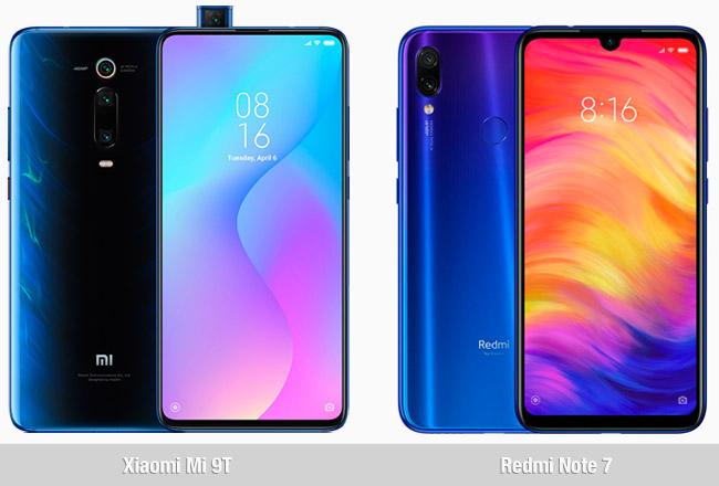 Comparativa Xiaomi Mi 9T vs Xiaomi Redmi Note 7
