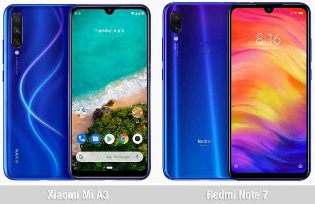 Comparativa Xiaomi Mi A3 vs Xiaomi Redmi Note 7