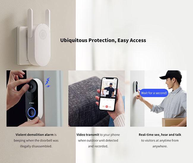 360 D819 Video Doorbell características