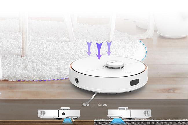 Limpieza y aspirado de alfombras del 360 Vacuum S7