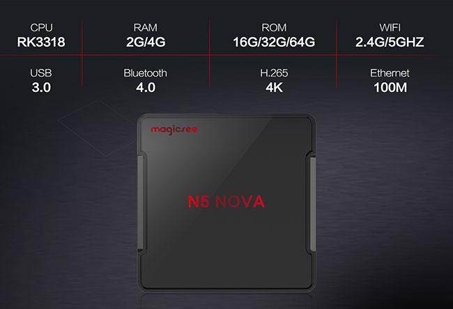 Magicsee N5 Nova TV Box características técnicas