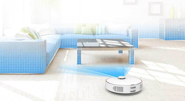 Mapeado virtual de la casa cel robot aspirador Vacuum Cleaner S7