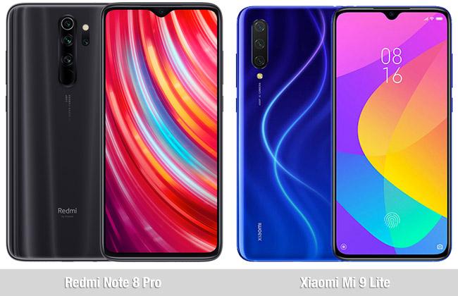 Comparativa Redmi Note 8 Pro vs  Xiaomi Mi 9 Lite
