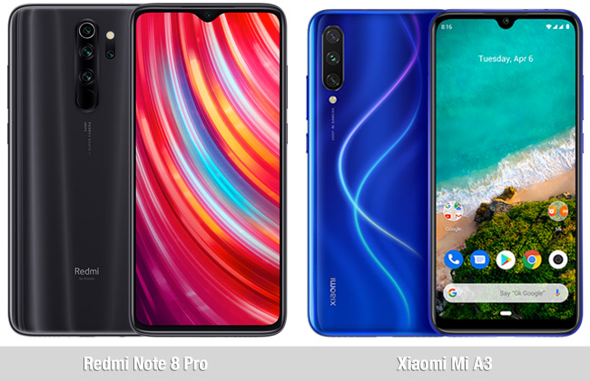 Comparativa Redmi Note 8 Pro vs Xiaomi Mi A3