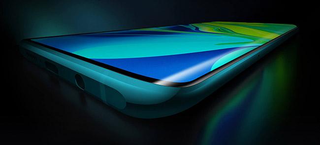 Xiaomi Mi Note 10 pantalla AMOLED curva