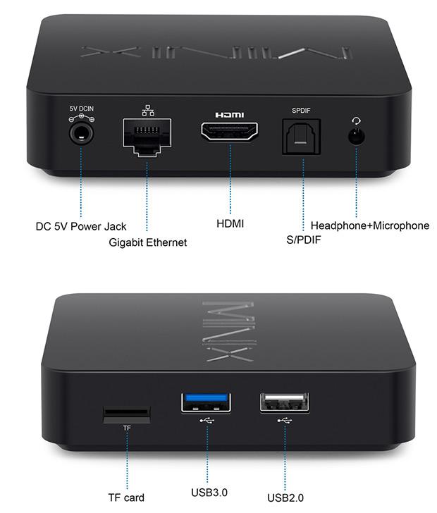 Minix Neo T5 conectividad y conexiones