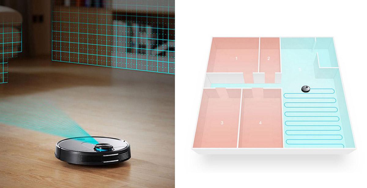 Mapeado virtual de la casa cel robot aspirador Vacuum Xiaomi VIOMI V2 Pro