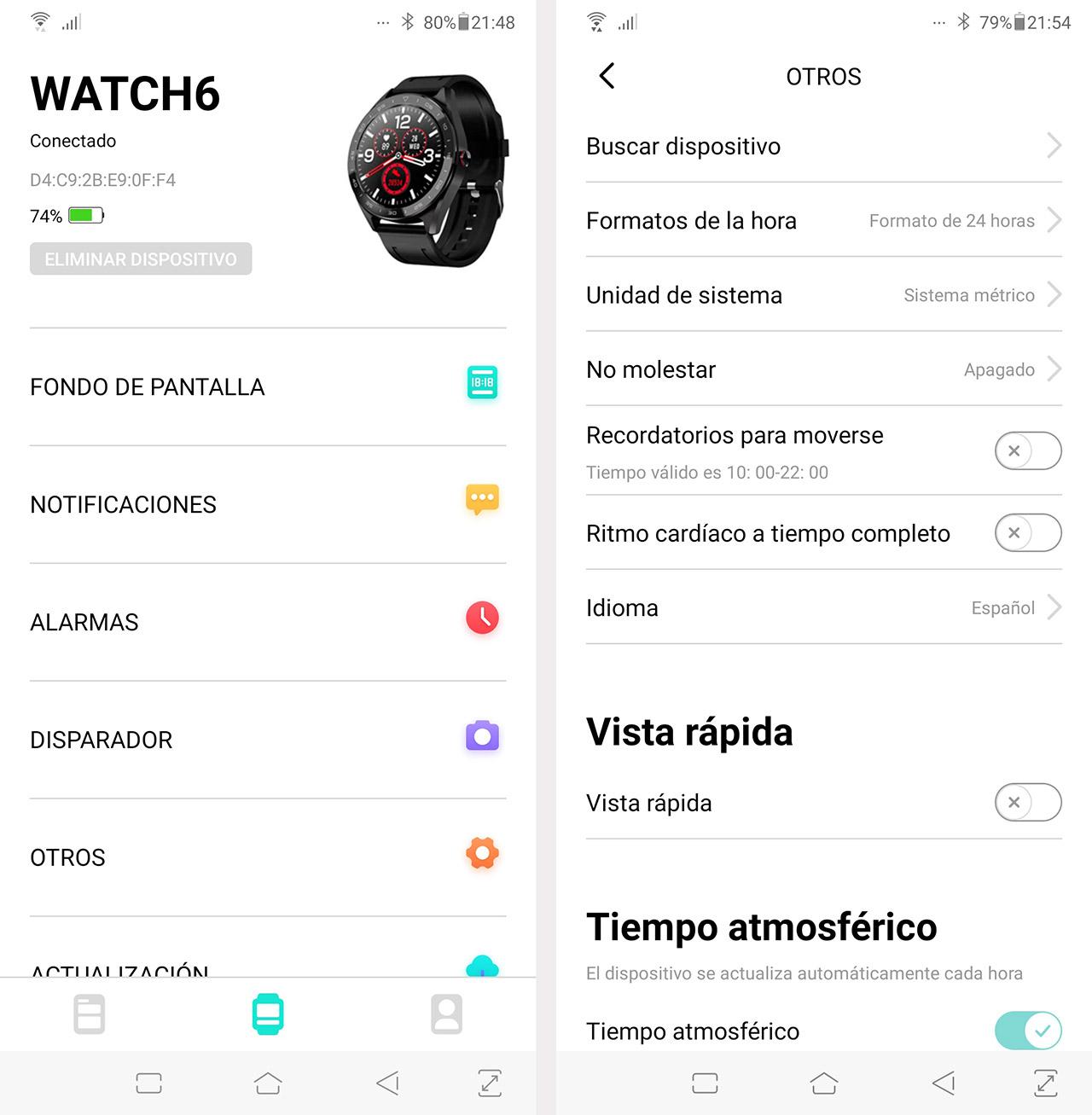 Aplicación para el móvil smartwatch Fobase 6 Pro