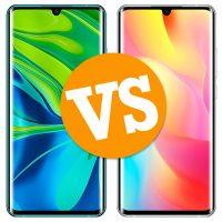 Xiaomi Mi Note 10 vs Xiaomi Mi Note 10 Lite