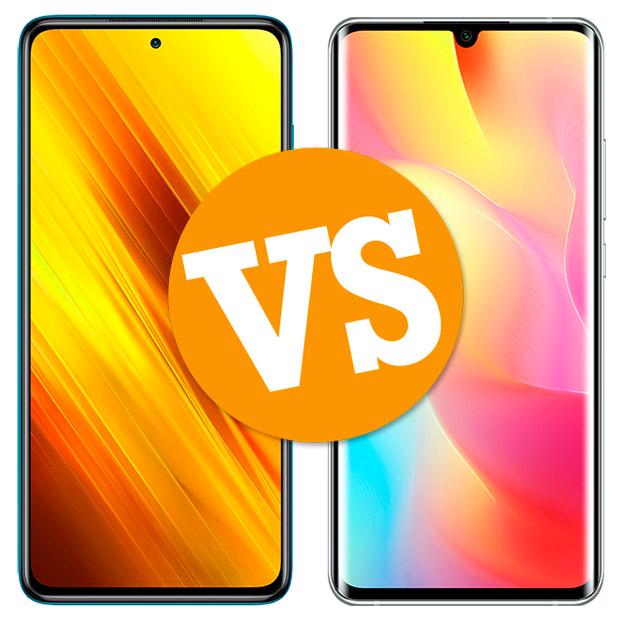 Comparativa Poco X3 vs Mi Note 10 Lite